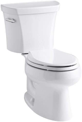 Elongated Bowl Height Wellworth Comfort - Kohler K-3978-0 Wellworth Elongated 1.6 gpf Toilet, White