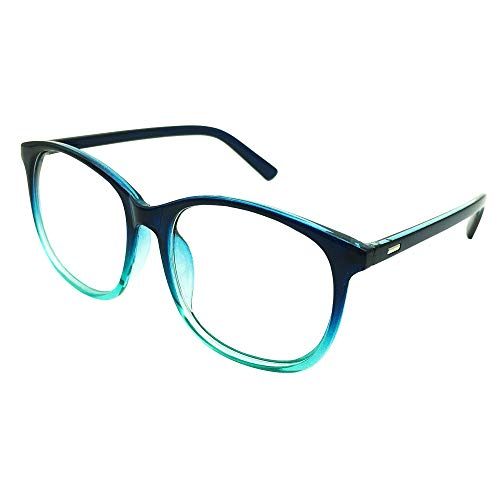 Southern Seas Oversize Reading Glasses Everyday Use Mens Womens +2.25 Blue Frame Readers Eyewear