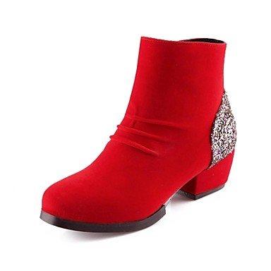 botas de mujer zapatos de moda botines talón grueso con partidas conjuntas más colores disponibles ,