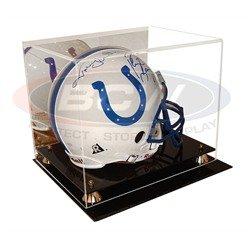 BCW Deluxe Acrylic Helmet Display -With Mirror & Wall Mount - Football Helmet, Goalie Mask, Racing Helmet - Sports Memoriablia Display Case - Sportscards Collecting Supplies ()