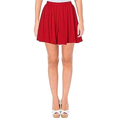 B. Darlin Womens Juniors Chiffon Pleated Mini Skirt