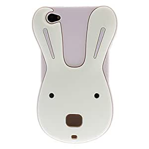 LZX3D Puzzled Bunny Style Silica Gel Soft Case for iPhone 4/4S (Assorted Colors) , Yellow