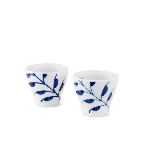 Royal Copenhagen Blue Fluted Mega Egg Cup 2-Pack Blue Fluted China