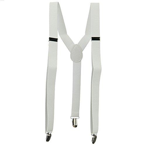 Fashion Suspender - White OSFM (Suspenders Teen Girl)