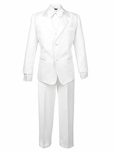 Spring Notion Boys' Classic Fit Tuxedo Set, No Tail 10 White