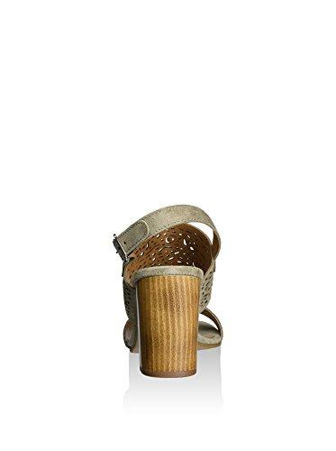 Cafenoir XL621 Sandales à Talons Hauts Femmes Taupe 5jSGFzL