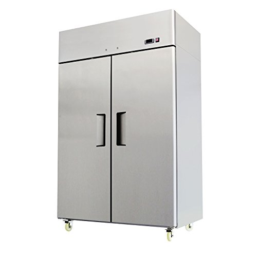 Commercial 2 Door Freezer, Reach In Stainless Steel 52'' Wide by Commercial Equipment