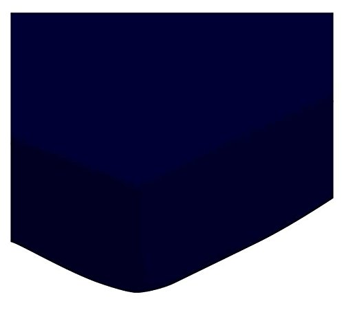 SheetWorld Fitted Cradle Sheet - Solid Navy Woven - Made In USA