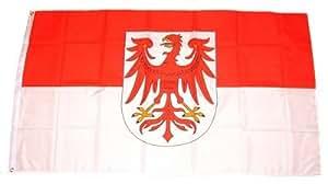 FahnenMax–Bandera de Brandeburgo nuevo 150x 250cm Banderas