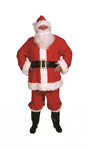 Halco - Complete Santa Suit Adult Costume - Standard - Red ()