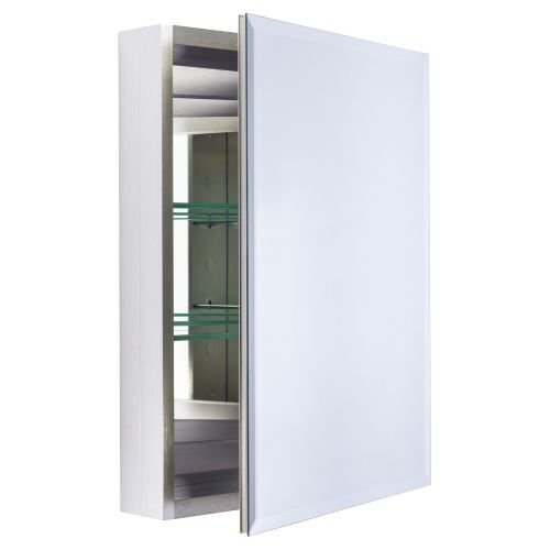 Miseno MBC2620 Dual Mount 26'' X 20'' Beveled Medicine Cabinet (Surface or Recesse, Brushed Nickel by Miseno