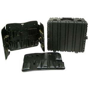 """Used, Tec-Tuff Tool Case w/Wheels 17.75 x 14.5"""" x 10"""" Black for sale  Delivered anywhere in USA"""