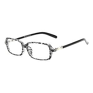 Slocyclub Nerd Horned Rectagle Plastic Frame Eyeglasses
