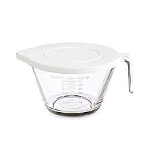 PAMPERED CHEF #2431 8 CUP GLASS CLASSIC BATTER BOWL NEW 2013 STYLE WITH LID (Chefs Glass Bowl)