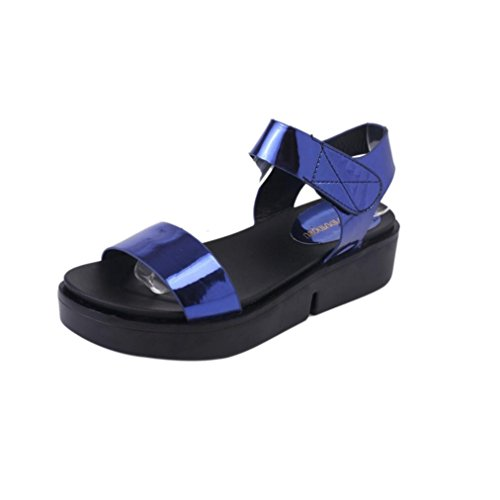 DDLBiz Women Fashion Casual Flat Sandal Toe Roman Sandals Summer Shoes (US:5.5(8.8''-9.2