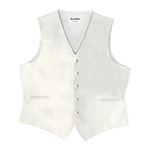 Ivory Satin 5 Button Full Back (Ivory Tuxedo Vest)