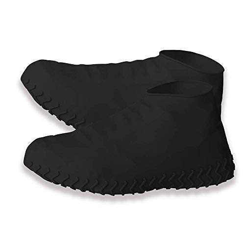 - BAYI - Shoe Covers Waterproof Work Boots Cover Reusable Boot & Shoe Rain Silicone Protector Non-Slip Non-toxic Stretchable Multi Use (L, Black)
