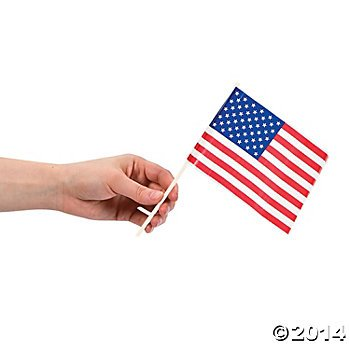 beb33eaf714b 72 Piece Bulk Pack Plastic Mini American Flag Cupcake Pick Toppers  Patriotic 4th of July Party Favor Supplies Decoration Accessories 4 X 6 Inch