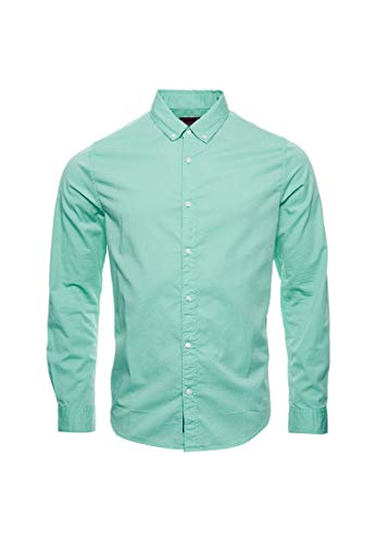 Superdry Classic Twill Lite L/S Shirt Camisa para Hombre