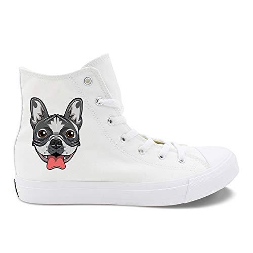 Fall Summer Schwarz Booties Damenschuhe Sneakers Exing Comfort 45 Knöchelstiefel White Leinwand Zehen Geschlossene Ferse Flache Weiß 4xEwq7t