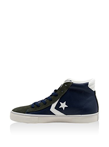 PRO Alte Sneaker Uomo Vulc Militare Converse Leather Verde Blu zdwxPIq