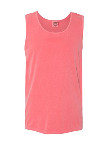 Comfort Colors Ringspun Garment-Dyed Tank (C9360)- WATERMELON, XL Comfort Colors 100% Garment