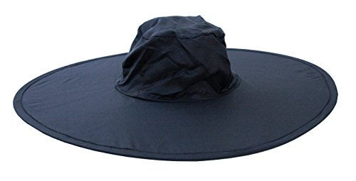 Twist-and-Fold Hat Foldable Nylon Sun Hat, 18 in diameter br