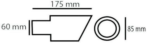 Universal 442A Auto Auspuff Endrohr Sport Schalldampfer Edelstahl Chrom