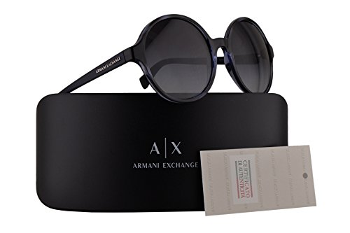 Armani Exchange AX4059S Sunglasses Havana Blue Twilight w/Grey Gradient 55mm Lens 82068G AX 4059S - China Sunglasses Exchange In Made Armani
