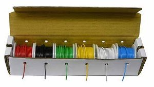 Electronix Express Hook Up Wire Kit (20 Guage) (100 feet Spools) ()