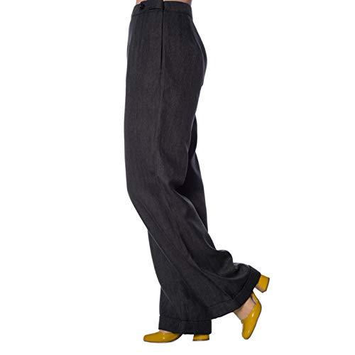 Cintura Alta Ancha 1940s Pantalones Dancing Retro Days Gris 1950s Pernera Vintage ZRR7Fq
