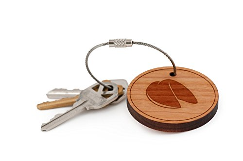 Fortune Cookie Keychain, Wood Twist Cable Keychain - Large