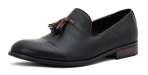 Hombre Vestido Inteligentes Sin Cierres Mocasines Con Borlas Casual Para Trabajo zapatos número GB - Negro, 6 UK / 40 EU: Amazon.es: Zapatos y complementos