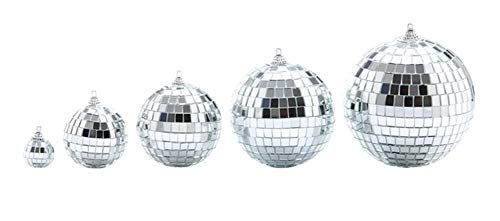 Disco Ball Cake Topper (LAOZHOU 5 Pack Mirror Disco Ball Cool and Fun Silver Hanging Party Disco Ball - Party Decorations, Party Design, Dance and Music)
