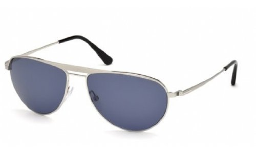 Tom Ford William FT0207 Sunglasses-17V Palladium (Mirror Silver Blue - White Ford Tom Sunglasses