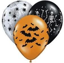 Halloween Spooky Design Balloon Assortment - Bag of 50 by Qualatex