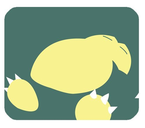 Anime Snorlax MousePad personalizado forma alargada en cojín ...