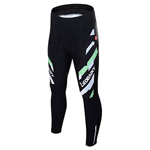 Epinki Men Spring Summer Autumn Cycling Pants Black Green for Outdoor and Multi Sports Bike Pants Size L