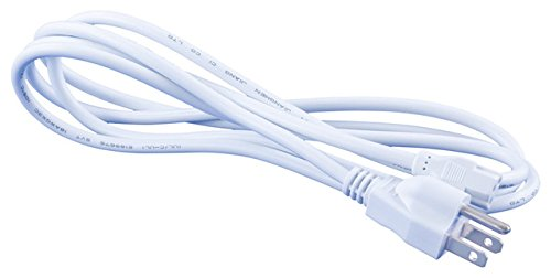 OMNIHIL (8FT) AC Power Cord for D-Link Web Smart 24-Port Gigabit PoE Switch - White by OMNIHIL