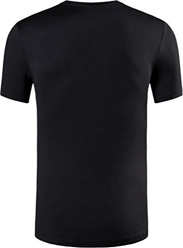 jeansian Uomo Sportiva Maniche Corte Maglietta Magliette Tee Shirt Tshirt T-Shirt Tops Dry Fit Tennis Golf Running… 3 spesavip