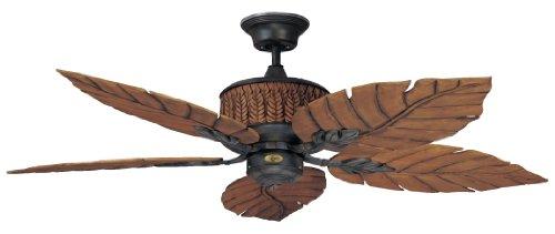 Concord Fans 52FEB5RI 52 Inch Fernleaf Breeze Damp Location Ceiling Fan – Rustic Iron