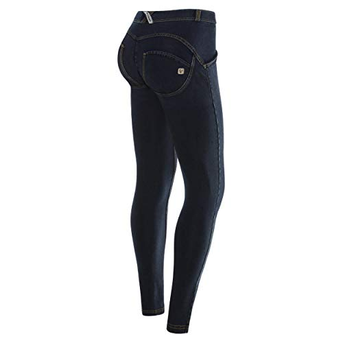 wrup1crjo1e Freddy S8 Jeans ewrs Mod Gialle Scuro Donna cuciture qqXwT1xH