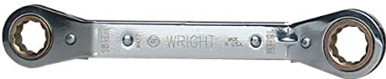 16mm x 18mm Wright Tool 9437 12 Point Offset Reversible Ratcheting Box Wrench