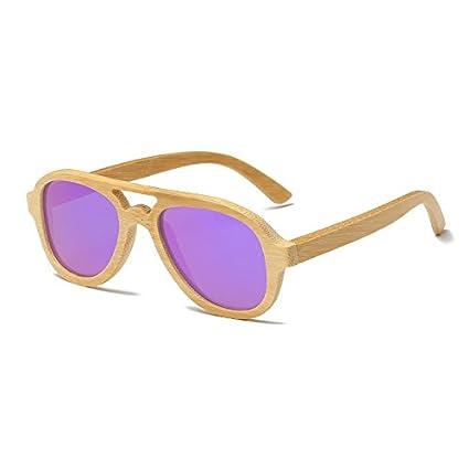 TL-Sunglasses Madera gafas de sol polarizadas Polaroid Mujeres Hombres de bambú para gafas de