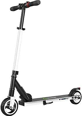 Jannyshop Scooter Electrico Plegable con el Neumático de ...