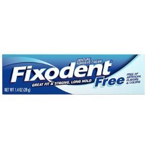 Fixodent Free Dental Adhesive Cream 1.4 oz. (Pack of 6) by Fixodent