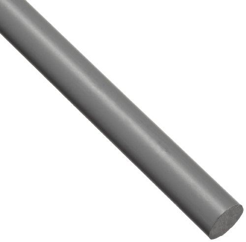 PVC (Polyvinyl Chloride) Round Rod, Opaque Gray, Standard Tolerance, UL 94/ASTM D1784, 1/4