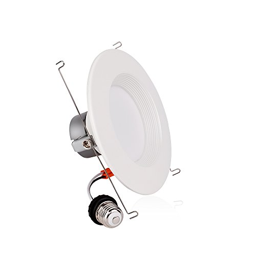 6'' Inch LED Can And Trim Combo -12W New Construction Insulation Contact IC Rated Downlight - UL and Energy Star Rated (5000 Kevin, 2 Each) by Bybon (Image #3)