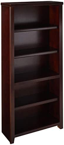 Martin Furniture Burnt Tribeca Loft 70 Bookcase – Fully Assembled, Tall, Cherry