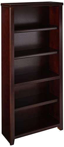 Martin Furniture Burnt Tribeca Loft 70' Bookcase - Fully Assembled, Tall, Cherry